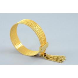 STUNNING! Vintage Gold-tone Mech Adjustable Bracelet w A. Greece style Design