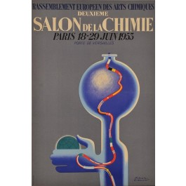 "Advertising Poster Chemistry Exhibition ""Salon de la Chimie Paris"""