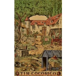 Original Vintage Frenc Advertising Children Poster TIR COCORICO circa 1900