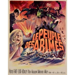 "Vintage French Movie Poster for ""The Lost Continent"" - ""Le Peuple des Abimes"""