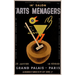 Original French Advertising Poster 14e Salon Des Arts Menagers by Carlu 1937