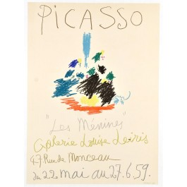 "Original French Poster by Picasso  ""22.5. 59 -  27.6.59"" ""Les Ménines"" 1957"