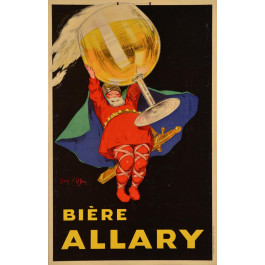 """Original French Advertising Alcoholic Drink Poster """"Biere ALLARY"""" by Jean d'Ylen ca. 1900"""