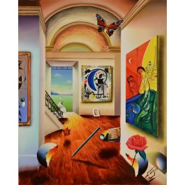 "Original Oil on Canvas Painting ""The Magic Room"" by Ferjo"