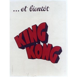 "Original Vintage Movie Advertising Poster ""King  Kong is Coming"""