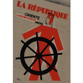 "Original Vintage Newspaper ""La Republique"" Art deco by Jean Carlu"