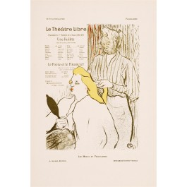 An original Litho Cover for a Theater Program by Toulouse Lautrec