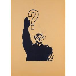 """Original Vintage French Poster """"De Gaulle"""" 1968 Student Revolution"""