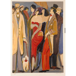 Original Color Lithograph by Israeli Artist Issac Maimon Signed and numbered AP