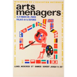"French Poster ""Arts Ménagers"" Exhibition at Palais de la Défense"