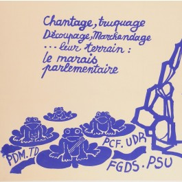 "French Student Revolution Poster ""RATP TIENDRA"""