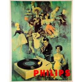 Vintage Advertising Poster for PHILIPS