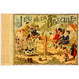 "Original Vintage Children Game French Poster ""Jeu de la Bascule"""
