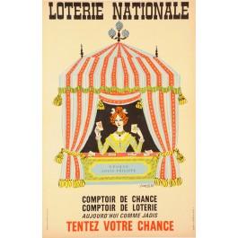 Original Vintage French Poster Loterie Nationale  - TENTEZ VOTRE CHANCE