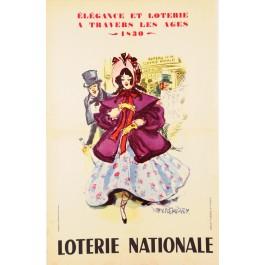 Original Vintage French Poster Loterie Nationale  - Elegance 1962 by Van ROMPAEY