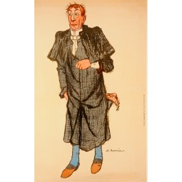 Original Vintage French Performers Poster by Adrien Barrère Belle Époque ca. 1900