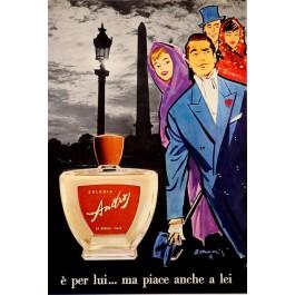 "Original Vintage Italian Advertising Poster for ""Colonia La Ducale"" by Bonam's 1940's"