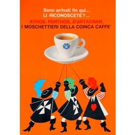 "Original Vintage Small Italian Coffee Poster Advertising ""Coinca"" Caffe"