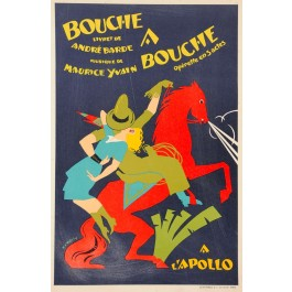 "French Poster advertising ""Bouche à Bouche"" at Apollo"