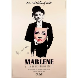 "Vintage Poster ""Marlene"" with Authentic Marlene Dietrich Signature"