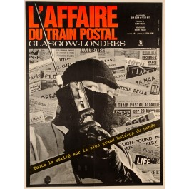 "Original Vintage French Movie Poster ""L'Affaire du Train Postal"" 1963"