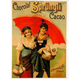 "Original Vintage Advertising Poster"" Chocolat Sprungli"""