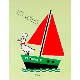 """Original Vintage French Poster """"Les Voiles Trouville"""" by Savignac"""