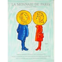 """Original Savignac Poster """"La Monnaie De Paris"""" ca. 1980"""
