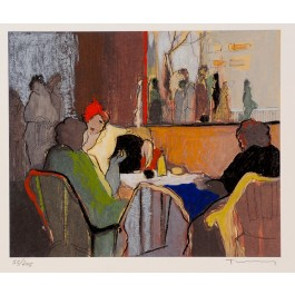 """Original Signed Mixed Media Lithograph by Tarkay from the series """"Retrospective"""""""