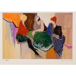 "Original Signed Mixed Media Lithograph by Tarkay from the series ""Retrospective"" 55/475"