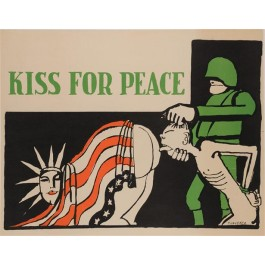 "Propaganda Poster ""KISS FOR PEACE"""