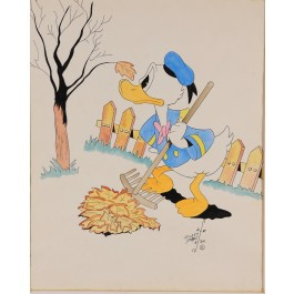 Original Signed & Numbered Lithograph of Walt Disney Donald Duck