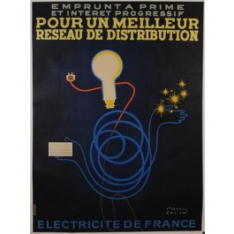 "Original Vintage French Advertising Poster Emprunt a Prime"" by Paul Colin"