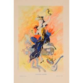 """French Art Nouveau Lithograph """"Les Affiches Illustrees"""", Chaix, Paris"""
