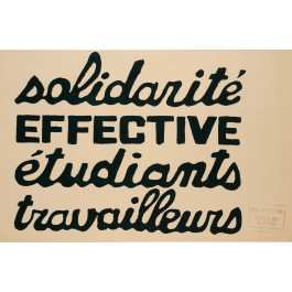 "French Student Revolution Poster ""SOLIDARITE"""