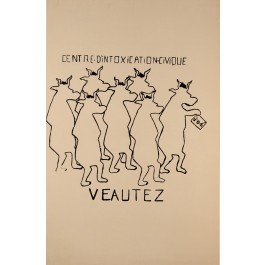 "French Student Revolution Poster ""VEAUTEX"""