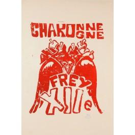 "French Student Revolution Poster ""Charonne"""