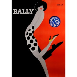 "Swiss Shoes Advertising Poster ""BALLY"" by Villemot"