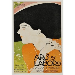 "Vintage Poster Advertising Magazine ""Arts & Labor"" by Marcello Dudovich 1909"