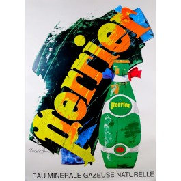 "Original Vintage French Advertising Poster ""Perrier"" by Donald Brun"
