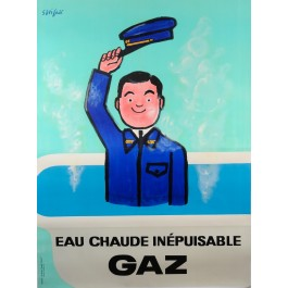 "French Advertising Poster ""Gaz de France (GDF)"" by Savignac"