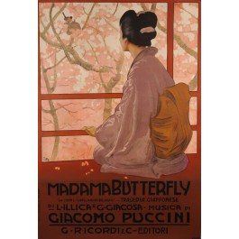 "Opera Advertising Poster ""Madam Butterfly"""