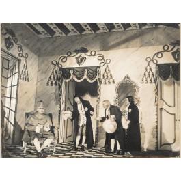 "Original Vintage French Photograph on Cardboard for ""Esther de Carpentras"" Opera ca. 1938"