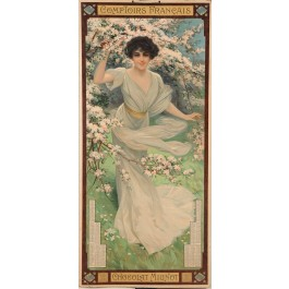 """Original Cardboard Poster """"Comptoirs Francais - Chocolate Mignot"""" 1900 by Rossi"""