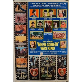 "Original Vintage Movie Comedy Poster ""When Comedy Was King 1951"