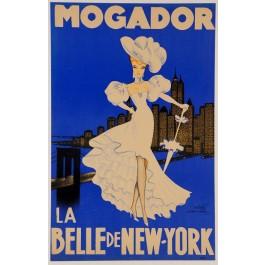 """Original Vintage Loterie Nationale Poster """"MOGADOR La Belle de NEW-YORK"""""""