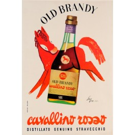 """Alcohol Drink Poster """"Old Brandy"""" (Later printing)"""