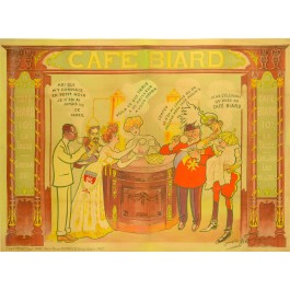 "French Poster ""CAFÉ BIARD"""
