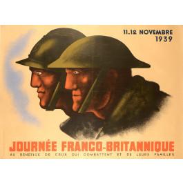 "WWII Propaganda Poster ""Journées Franco - Britannique""by Carlu"