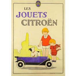"""Original Vintage French Poster """"Les Jouets CITROEN"""" ca. 1925"""